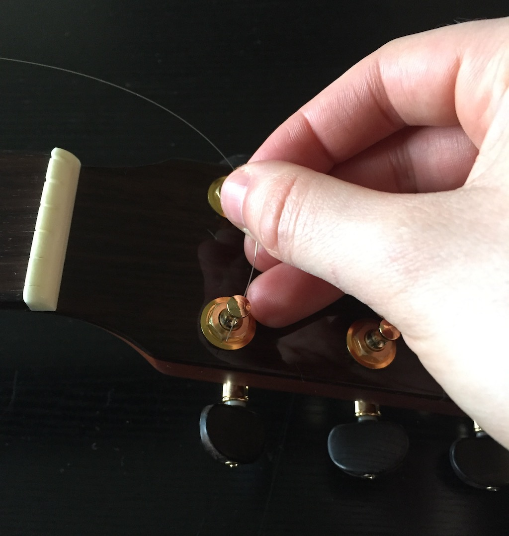 string in tuning post