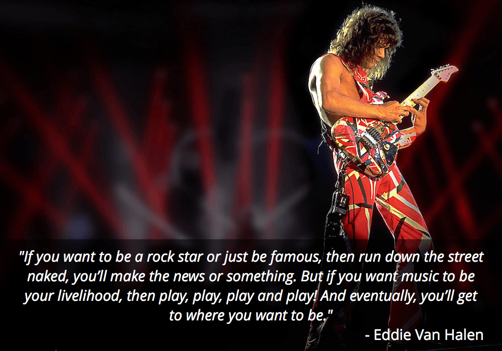 eddie van halen guitar quote