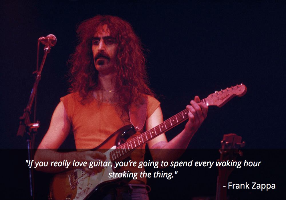 frank zappa guitar quote