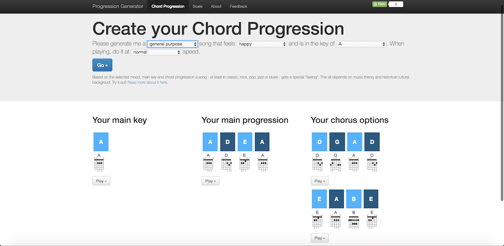 guitar chord progression generator