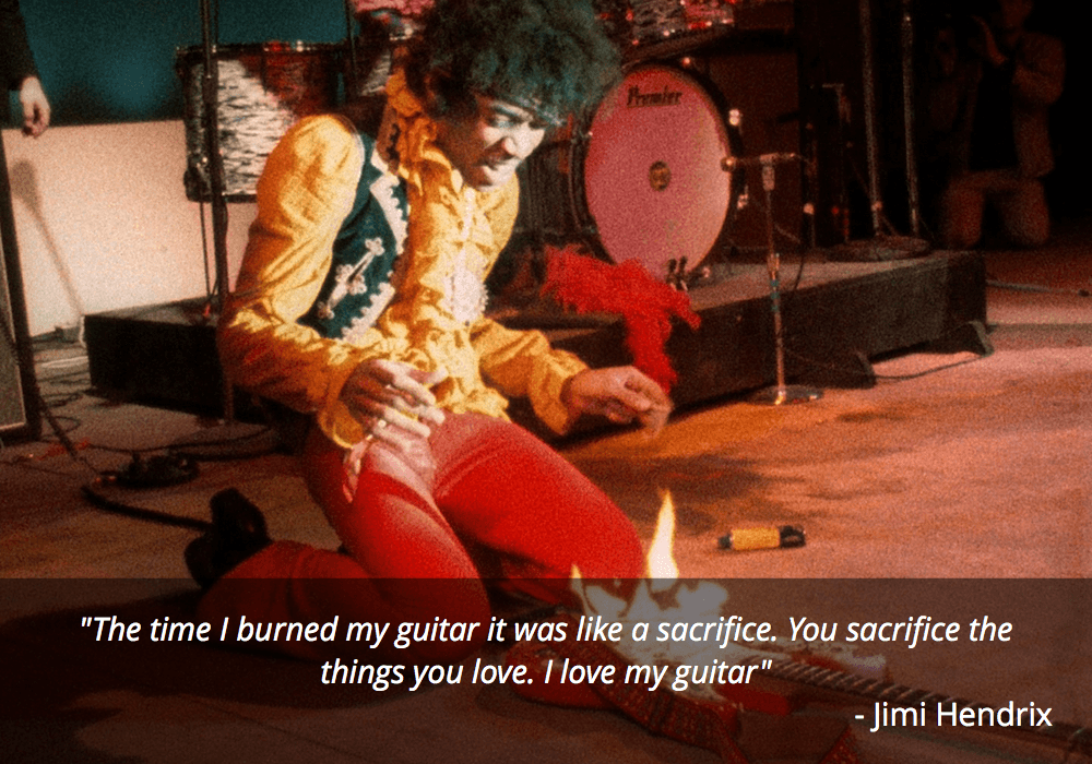 jimi hendrix fire guitar quotes