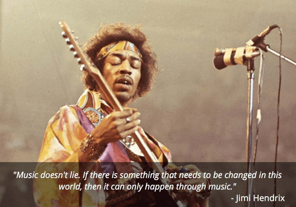 jimi hendrix guitar quote