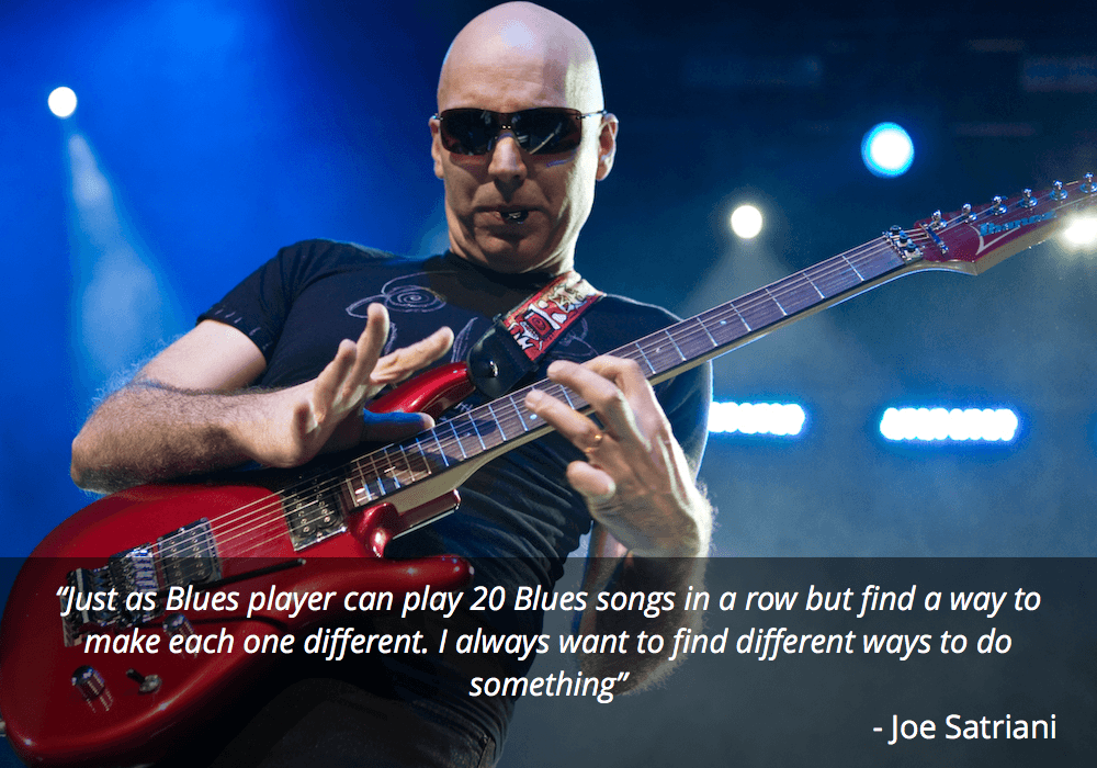 joe satriani guitar quote