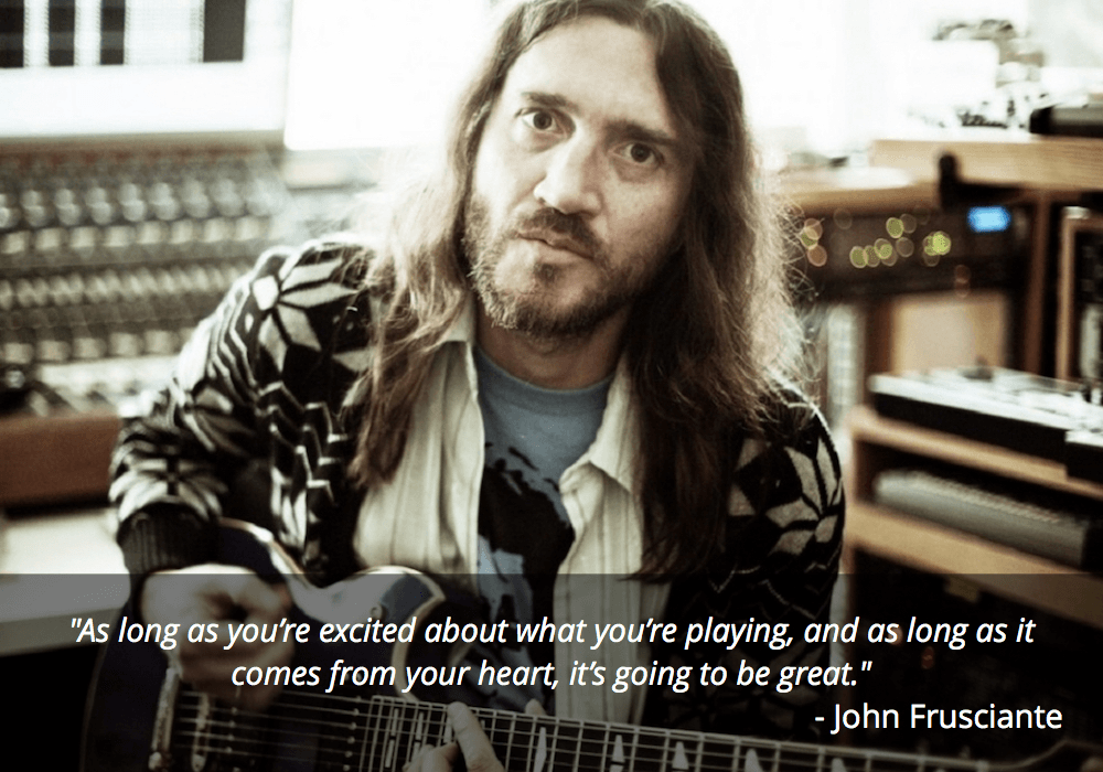 john frusciante guitar quote