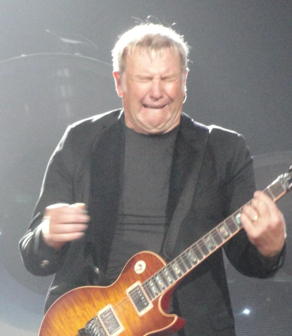 alex lifeson funny guitar face