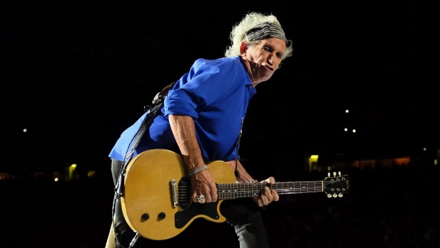 keith richards funny guitar face