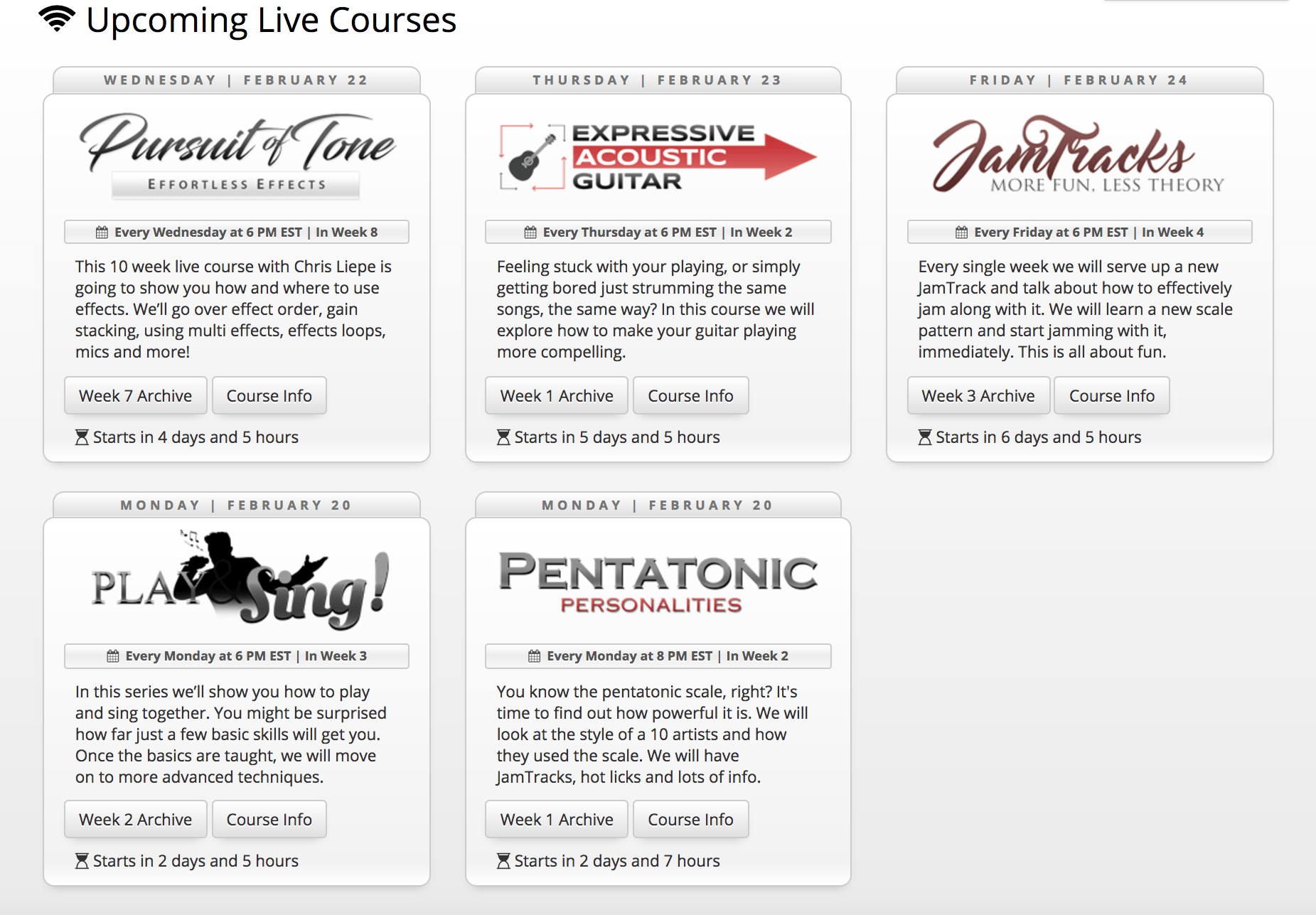 jamplay live courses