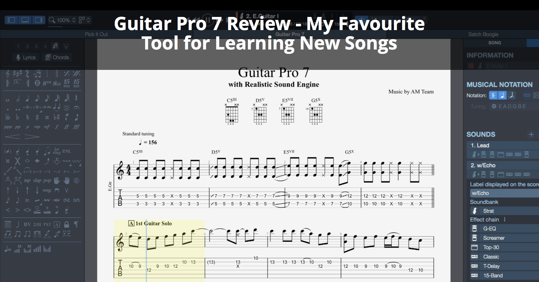 Guitar Pro 7 Review My Favourite Tool For Learning New Songs