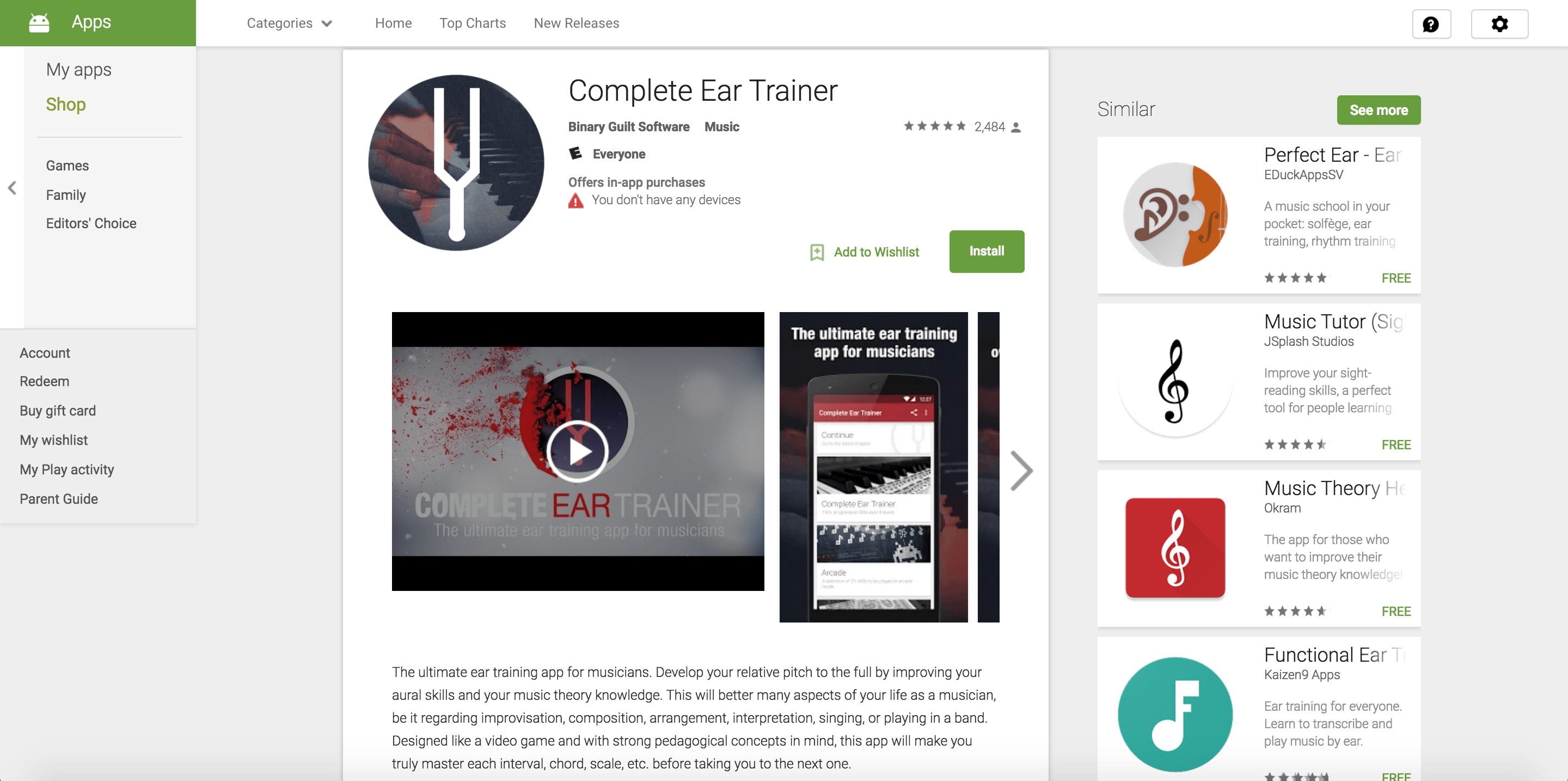 complete ear trainer app