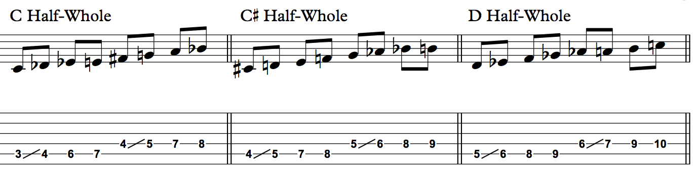diminished scale 1