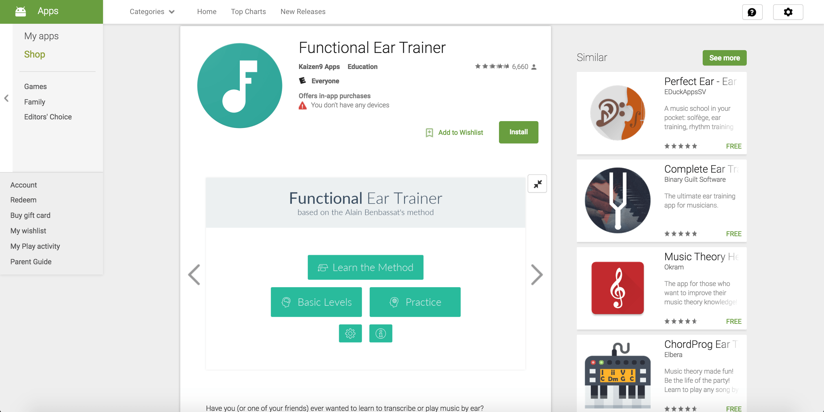 functional ear trainer app