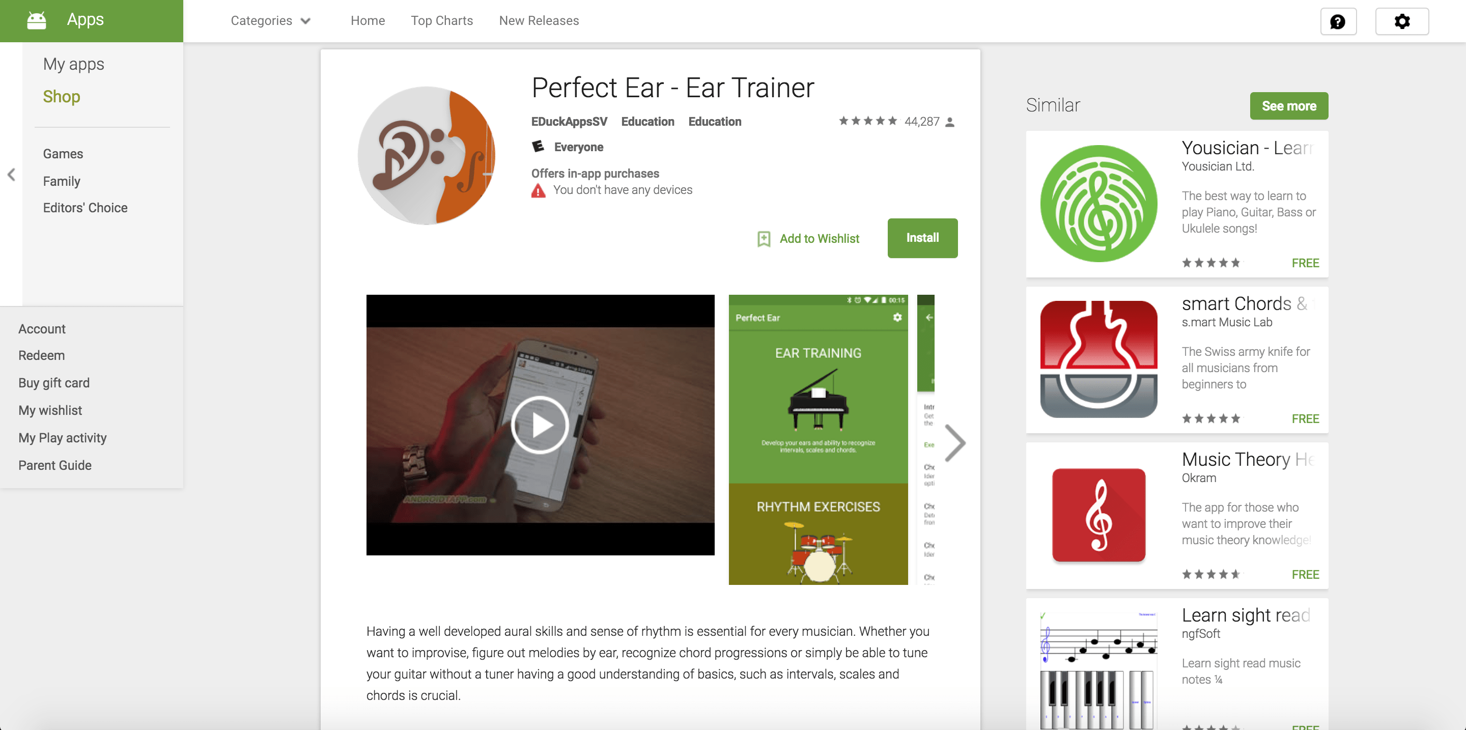 perfect ear trainer app