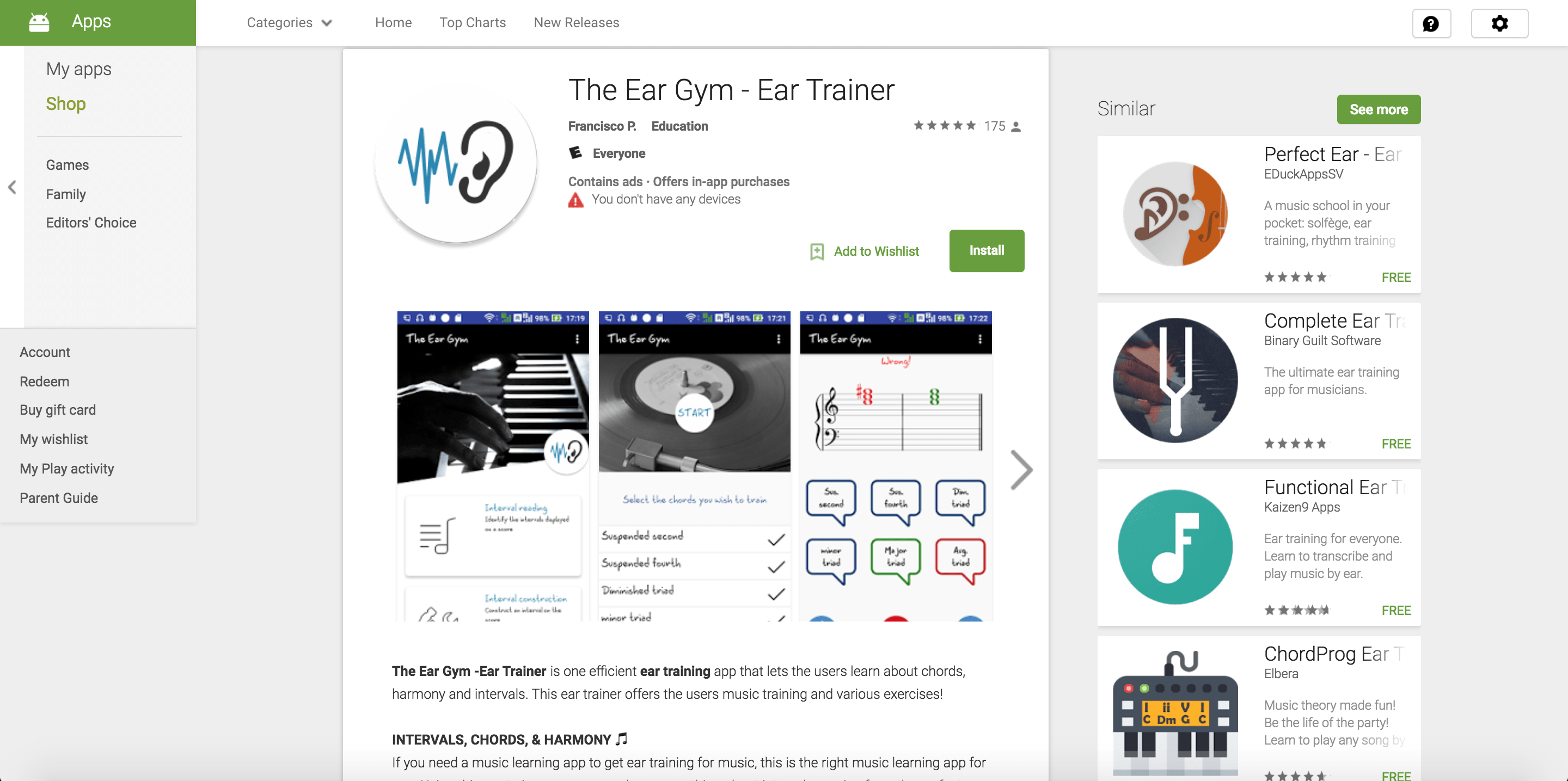the ear gym app